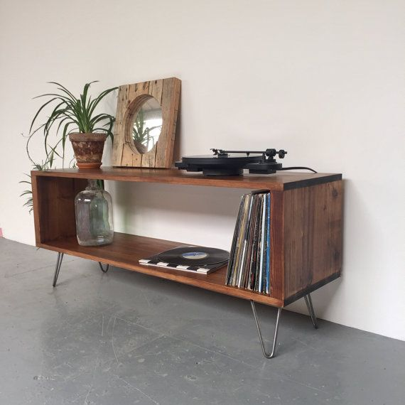 Vinyl Storage Console Record Player Stand, Sideboard ...