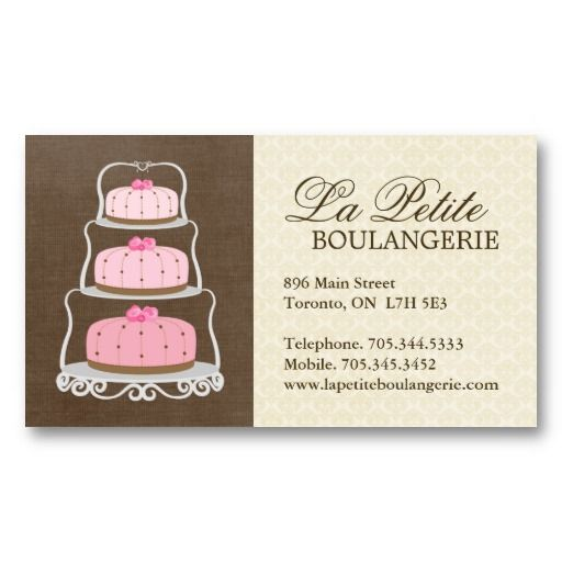 Cake Bakery Business Cards Zazzle Com With Images Bakery