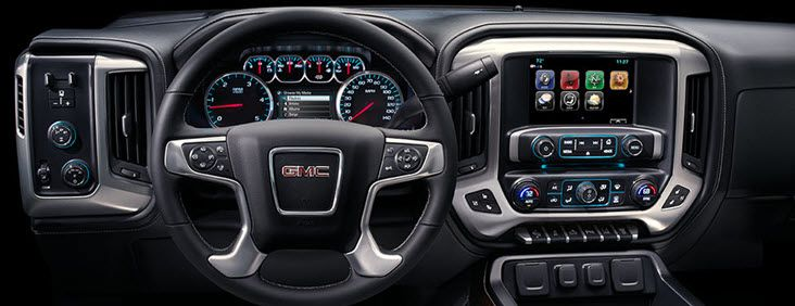 Image Of The Dash On 2017 Sierra 2500hd Pickup Truck Setting A Higher Standard With Purposeful Technology Gmc Denali Gmc Sierra 2500hd Gmc Sierra