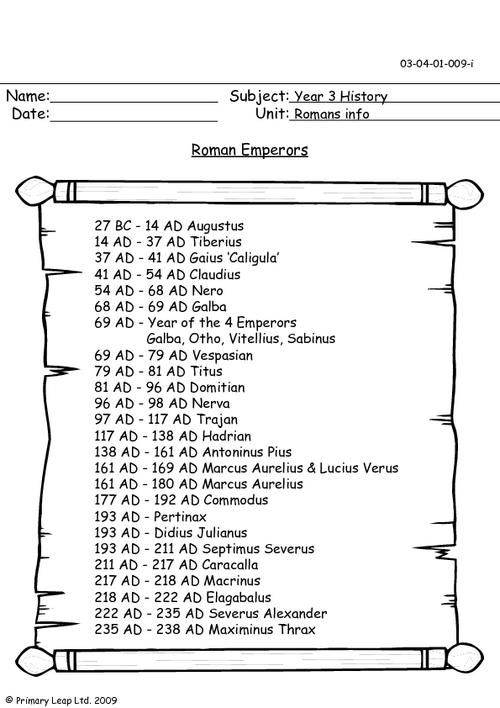 roman empire worksheets Google Search – Roman Empire Worksheets