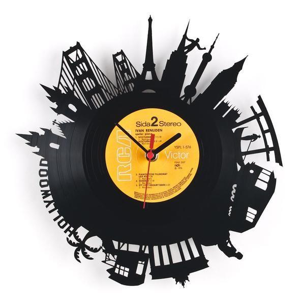 Uhr schallplatte welt wanduhr schallplattenuhr schallplattenuhr schallplatte und wanduhren - Wanduhr schallplatte ...