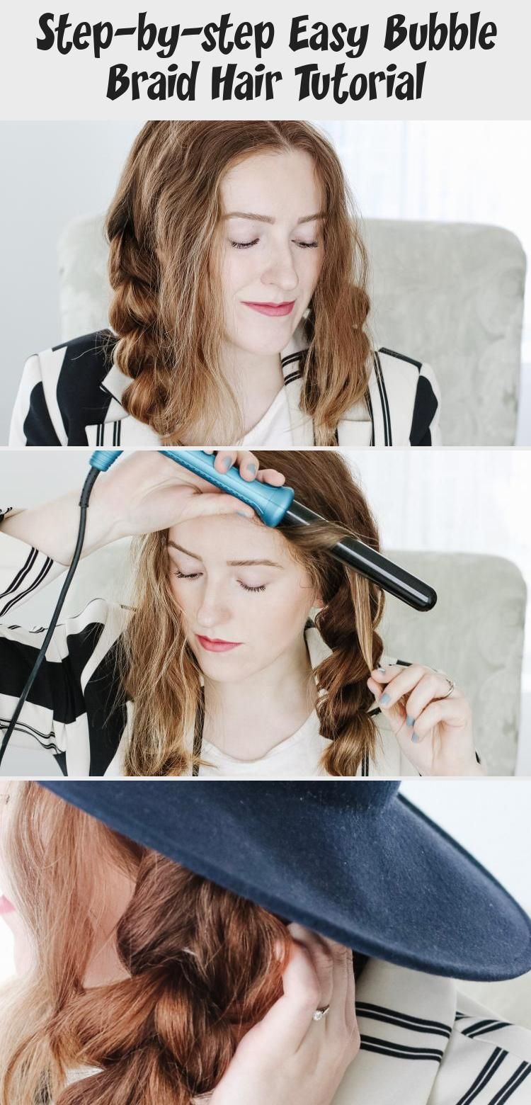7 Easy Steps To Create The Perfect Bubble Braidhoney Betts Everydayhairstyles Tutorial Everydayha In 2020 Hair Tutorial Easy Everyday Hairstyles Braided Hairstyles