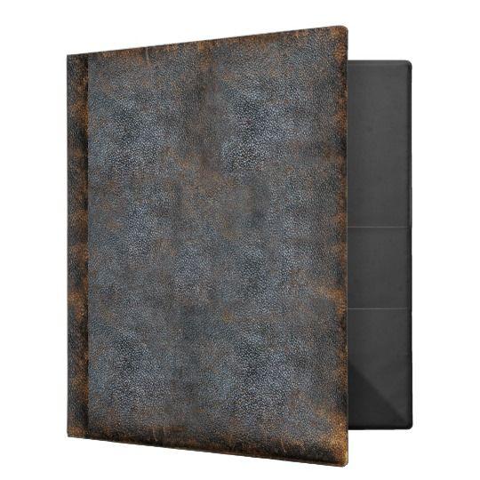 Vintage Worn Leather Print Gothic Binder