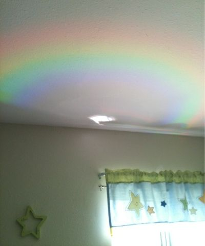Project a rainbow onto your child's bedroom ceiling by ...