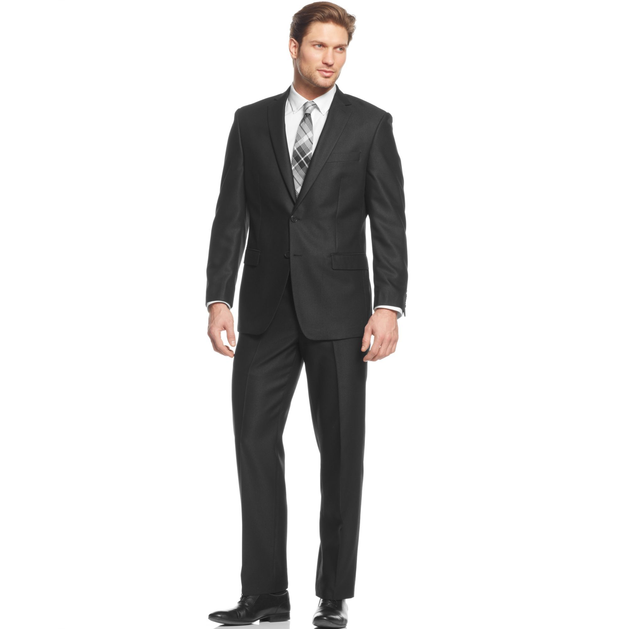 Calvin Klein Steel Black Suit Slim Fit in Black for Men | Lyst