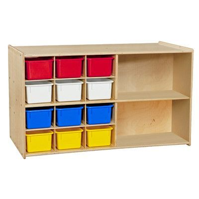 Wood Designs Contender Double Mobile 14 Compartment Cubby Assembly: Ships Ready to Assemble