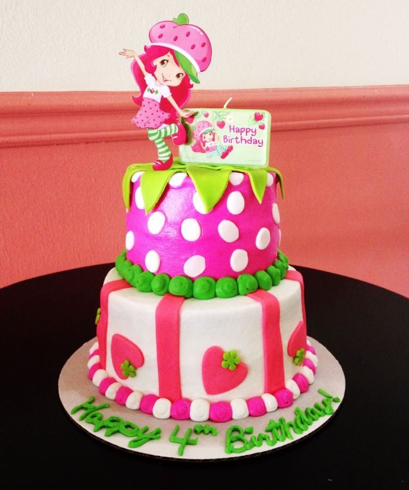 Wondrous Strawberry Shortcake Birthday Cake Bake Your Day Llc Alexandria Funny Birthday Cards Online Alyptdamsfinfo