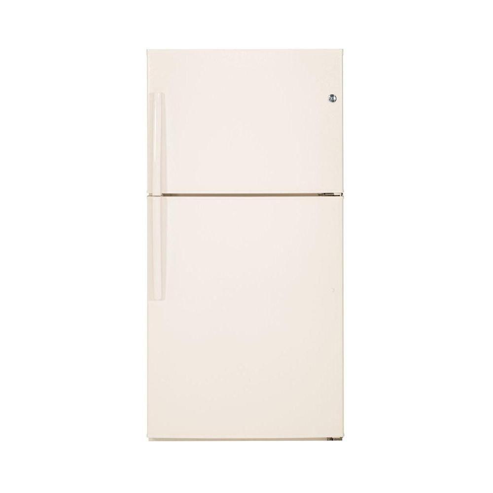 32.75 in. W 21.2 cu. ft. Top Freezer Refrigerator in Bisque
