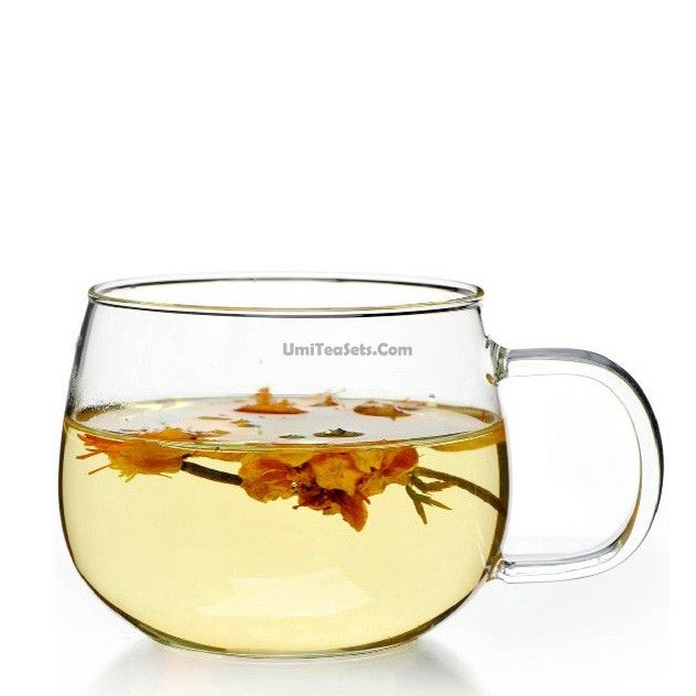 Big Belly Simple Glass Tea Cup