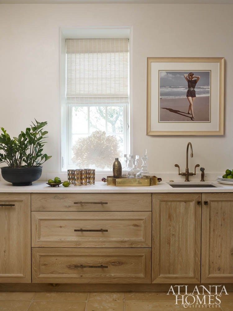 Stain Color Raw Wood Tone In 2019 Oak Kitchen Cabinets