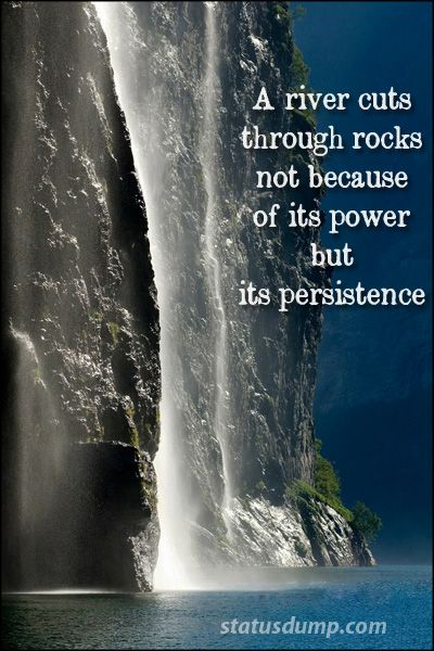 Persistence More Important Than Power Life Quotes Persistence