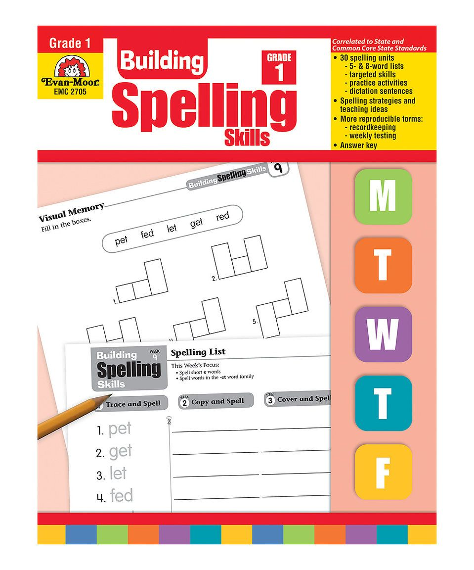 Take A Look At This Grade 1 Building Spelling Skills Workbook Today Spelling Lessons Spelling Lesson Plans Spelling Program