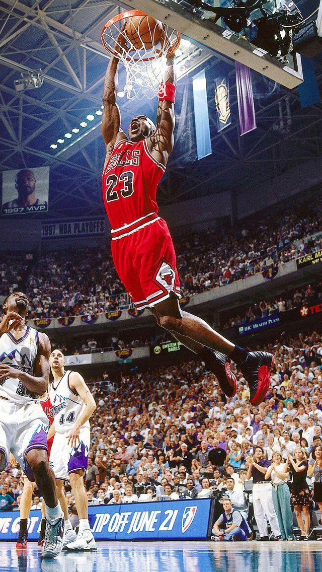 Michael Jordan Attempts A Dunk