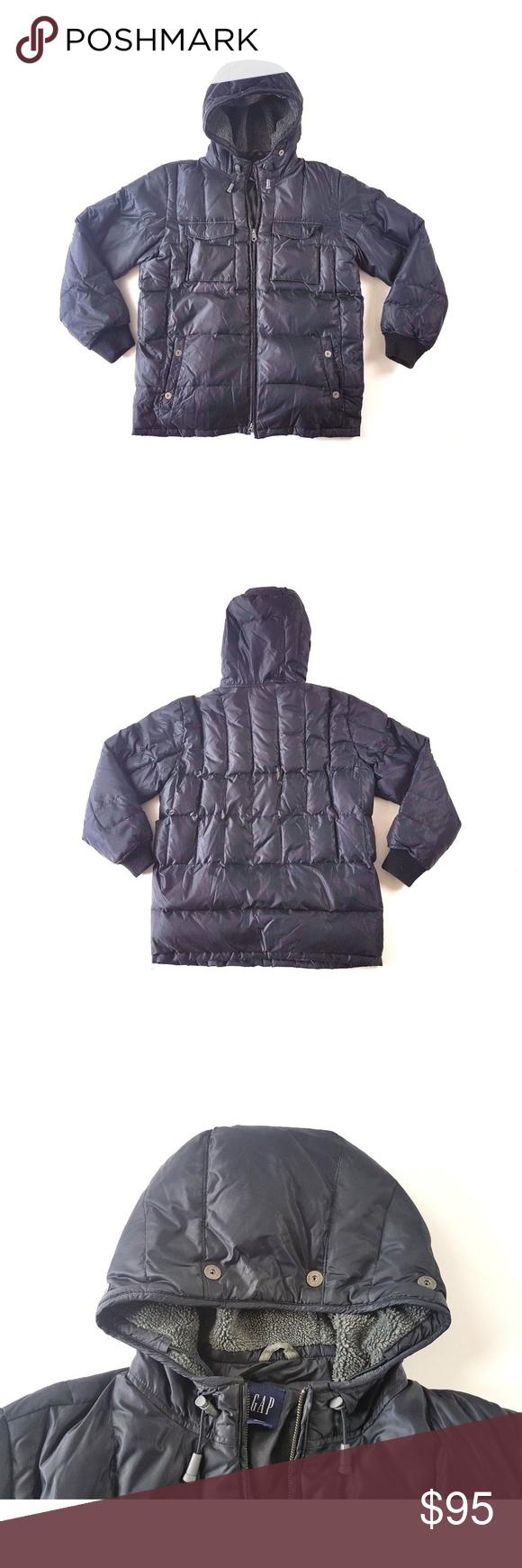 Gap Down Puffer Coat Jacket Sherpa Men S Large Down Puffer Coat Puffer Coat Jackets [ 1740 x 580 Pixel ]