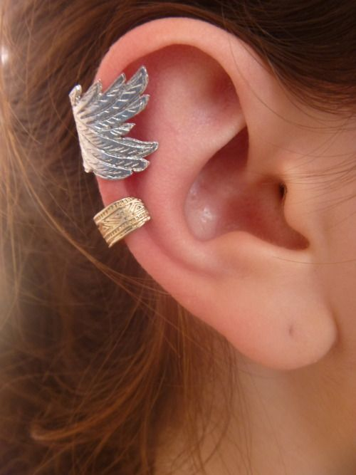 2081ff53f ear cuffs   Wearing leather and lace; Raise your hands up, this is ...