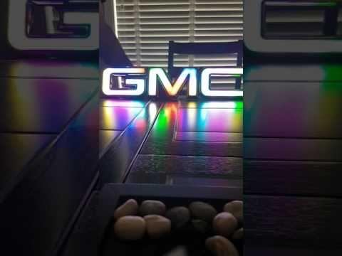 Youtube Multicolored Illuminated Gmc Emblem Gmc Trucks Gmc