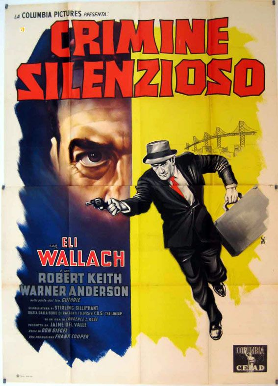 The line up Eli Wallach vintage movie poster