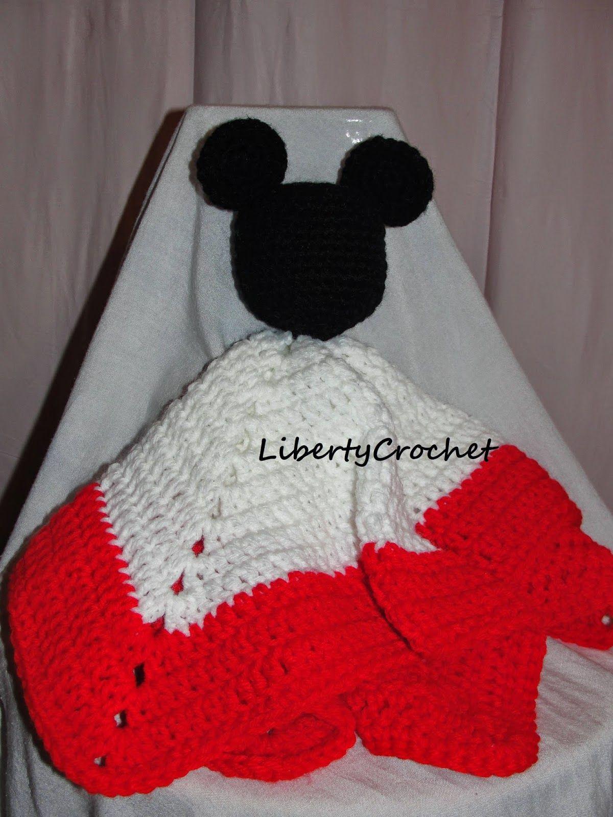 libertycrochet: Mouse head lovey   Crochet Baby Blankets   Pinterest ...