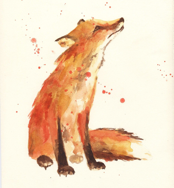 Fuchs Aquarell Fuchs Malerei Aquarell Fuchs Tierillustrationen