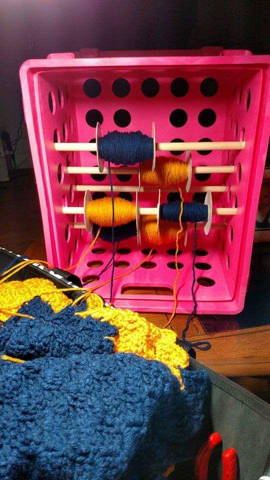 Unique way of doing yarn bobbins for C2C or graphgan crochet ...