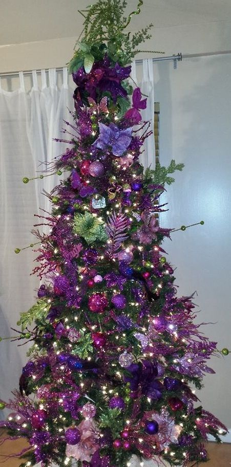 Purple & fuschia. | Purple christmas tree, Christmas tree ...