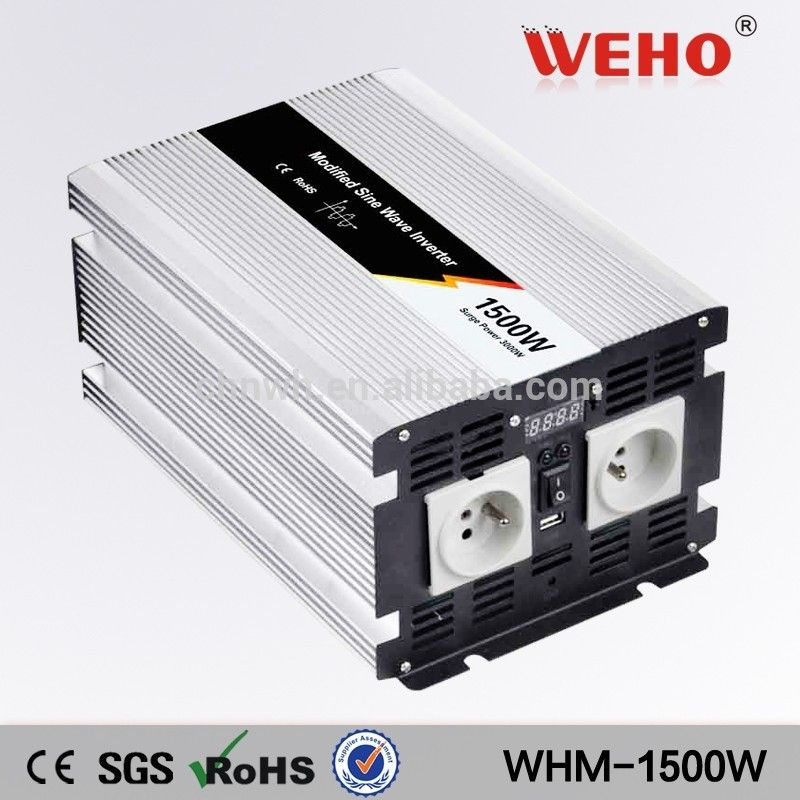 1500W Converter Modified Sine Wave Power Inverter 12V DC to 230V AC Invertor USB