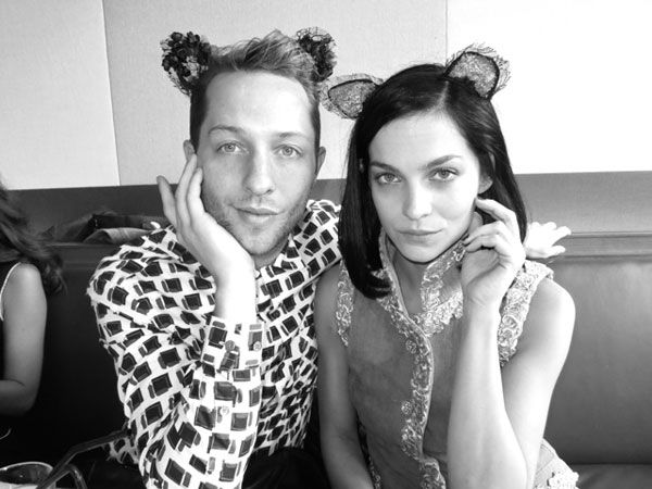 Derek Blasberg's Paris Fashion Week Diary - Derek purring around with Leigh Lezark at the Grand Palais
