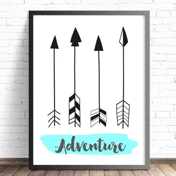 Adventure Tribal Arrows Print  Nursery Print  by TheKidsPrintStore. Nursery Print Find Adventure Teepee Nursery by TheKidsPrintStore.  Boys & Girls Tribal Nursery and Bedroom Wall Art Decor Prints.