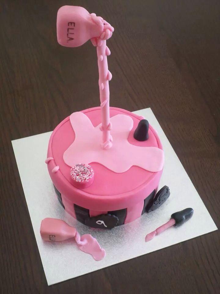 Nail Varnish Cake Cakes Pinterest Cake Birthday Cakes And