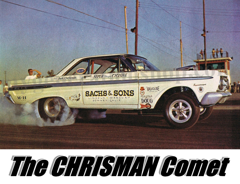 1969 cougar classic car restoration by doug jenkins garage - Chrisman Comet Tribute Poster 1964 Fuel Funny Car