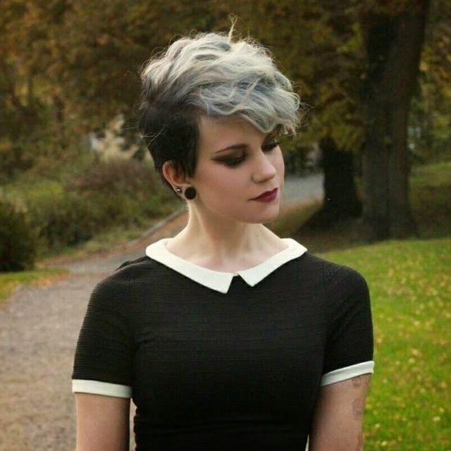 corte de cabello pelo corto de colores