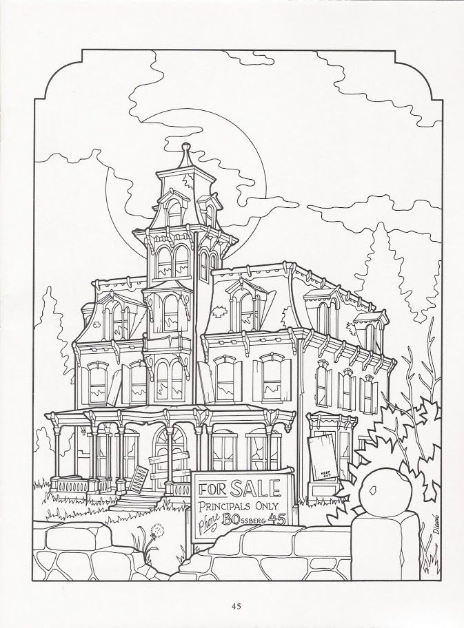The Victorian House Coloring Book Art Adult Coloring
