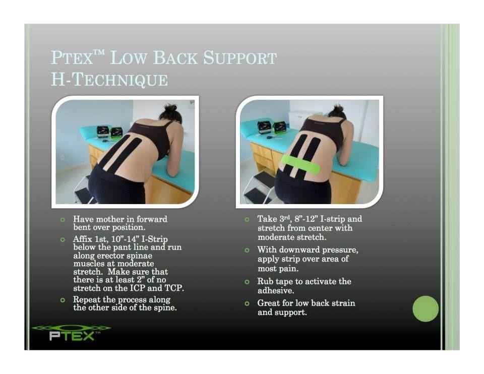 kt tape instructions lower back