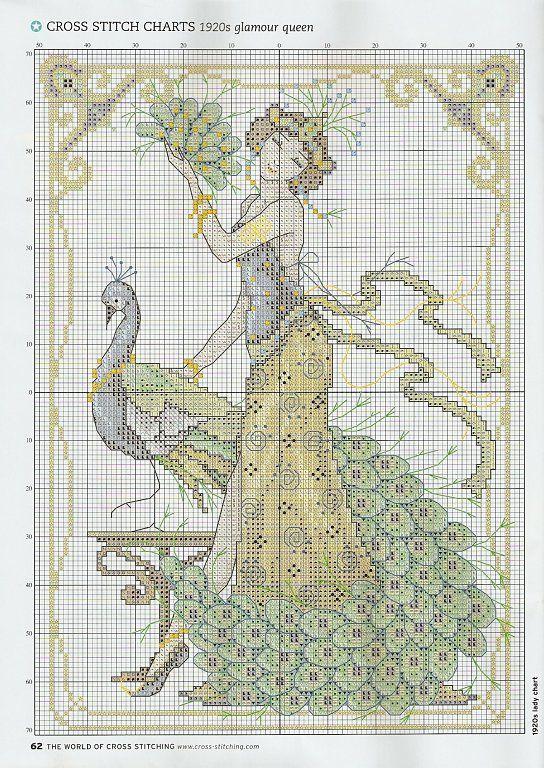 Gratis mønstre og ordninger: En smuk dame | Fit and Fun | Pinterest ...