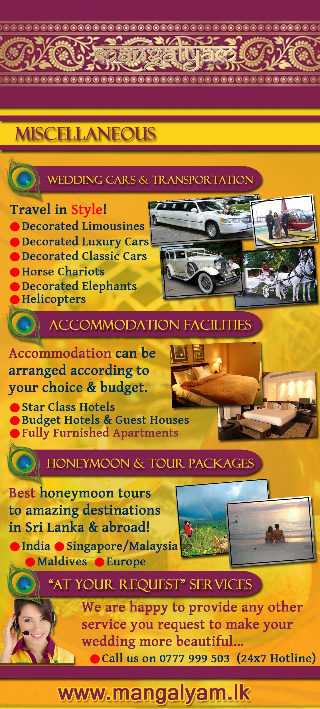 Mangalyam Brochure Wedding Cars Transport Accommodation Honeymoon Packages