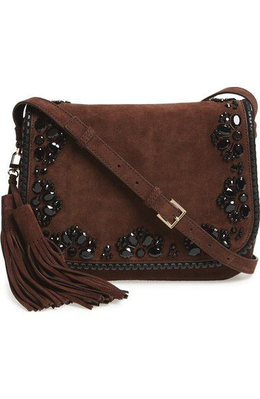 Kate Spade New York Anderson Way Lietta Beaded Suede Crossbody Bag Available