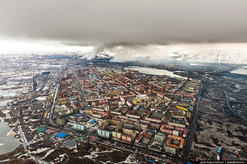 Norilsk Russia From afar UrbanHell Pinterest Russia