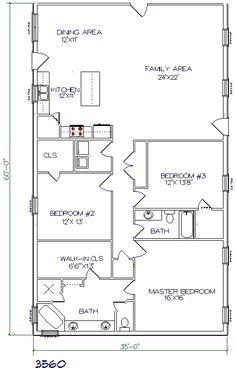 30 barndominium floor plans for different purpose for 35x60 house plans