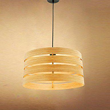 Pastorale antiquen legno Skin lampada rotonda di legno
