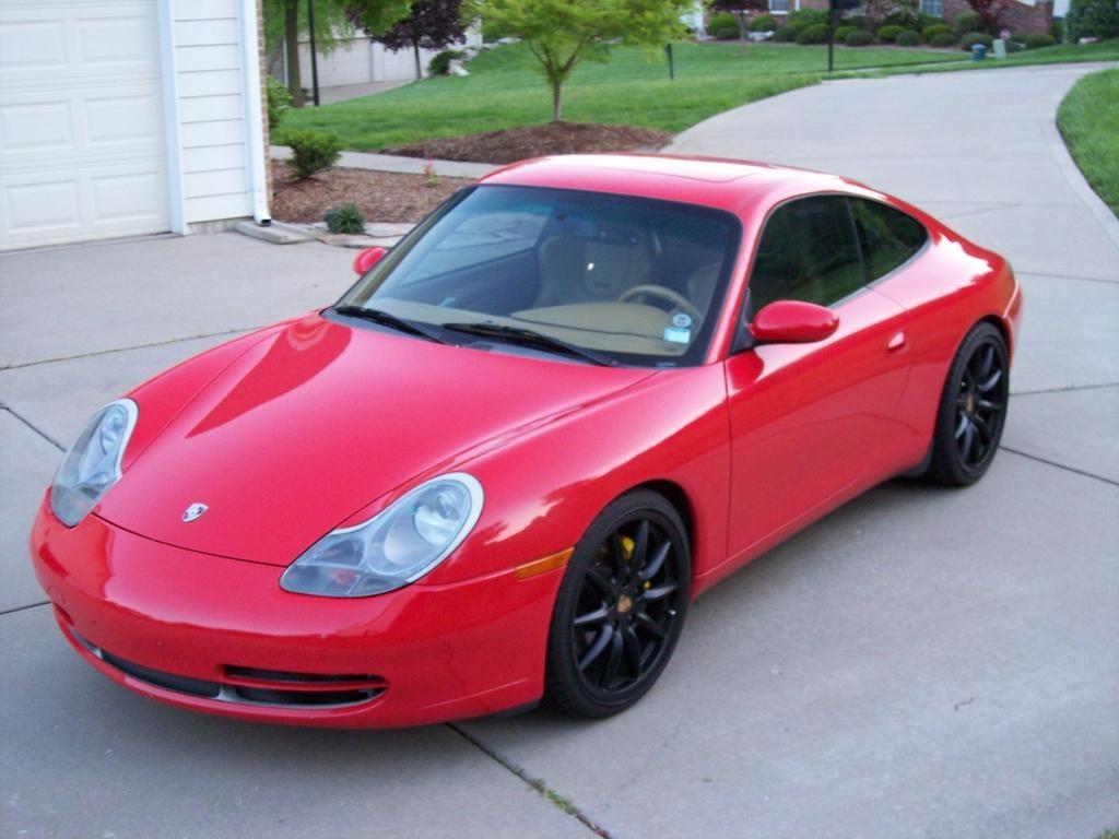 Porsche 911 996 mk1 3 4 red guards black wheels