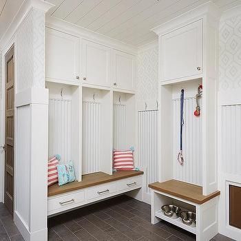 Mudroom With Built In Dog Food Bowls Built In Dog Bed Mudroom