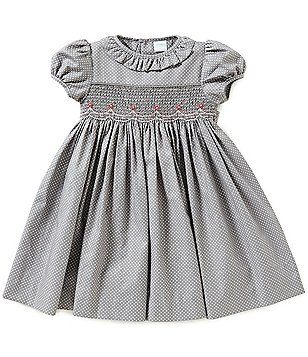 Edgehill Collection Baby Girls 3 24 Months Dotted Smocked