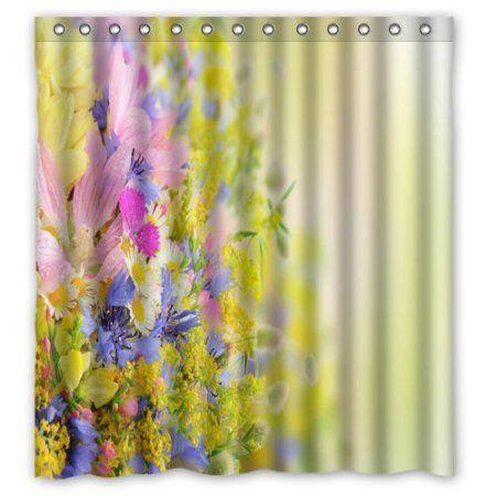 GreenDecor Pretty Flower Print Mom Gift Ideas Set Waterproof Shower ...