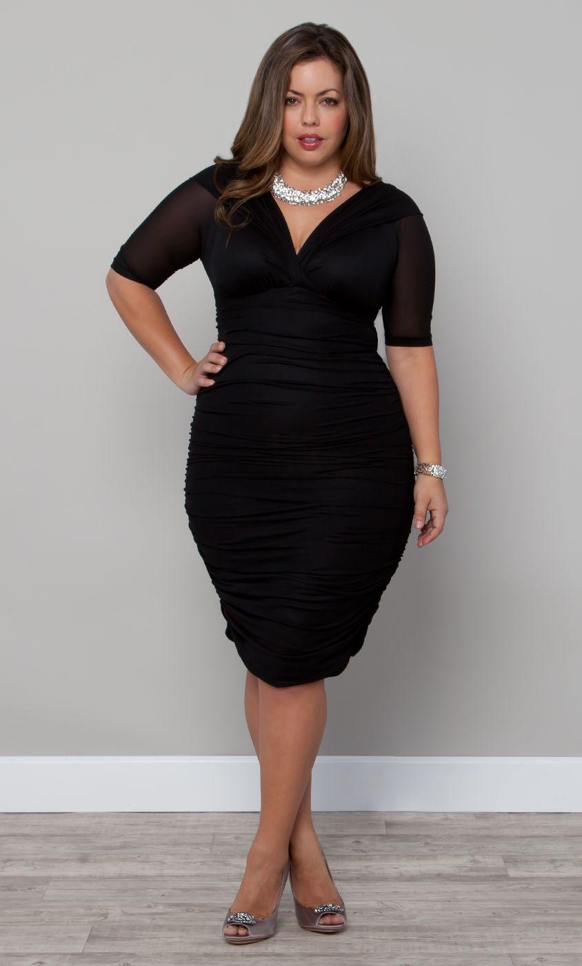 Classic black dresses plus size