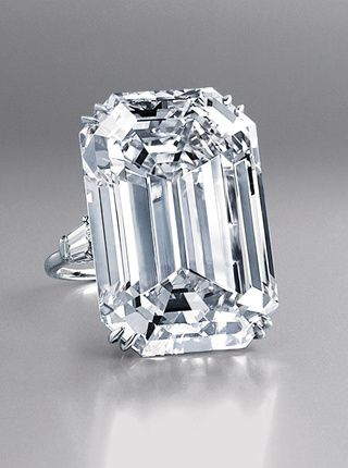 Now cut into 18 stones, the 601 carat gem was found by accident in 1967 by a South African miner. The first Lesotho Diamond was set in this 71.73 carat ring, and the third, also handled by Harry Winston, was given to Jacqueline Kennedy by Aristotle Onnassis.  The Lesotho