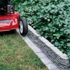Emsco 20 ft  Bedrocks TrimFree Resin Slate Lawn Edging is part of Slate garden Edging - The Emsco Group Outdoor TrimFree Bedrocks Edging creates a beautiful edge border to enhance your garden or lawn with a look of stacked slate, great for adding definition to any border around your flower beds, mailbox area, playground, etc  The exclusive TrimFree feature forms a barrier to prohibit grass or vegetation growth so no edging is needed after mowing; just mow grass to the edge and no weed whacking is necessary  It adjusts to a 180° angle at the joints to easily form right angles, curves and bends  The edging is easy to install; simply tap in the extra long spikes to each piece (10 included) with a hammer or mallet  Each pack contains enough edging to cover approximately 20 ft  with all necessary endcaps and spikes included