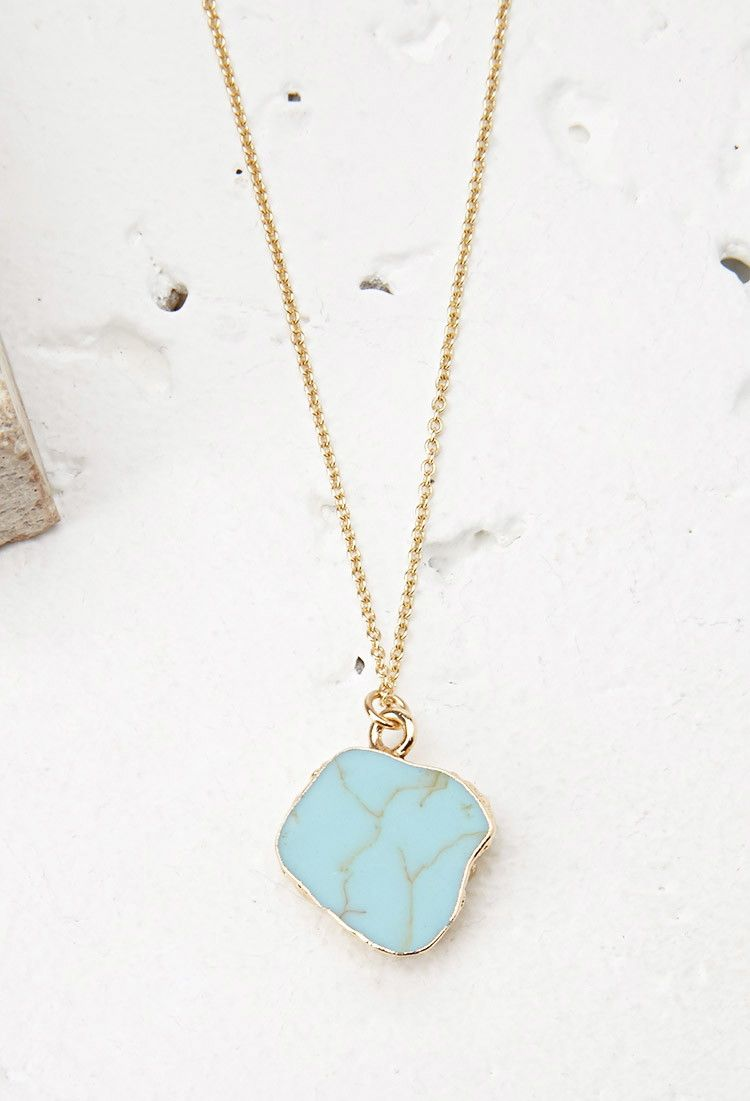 Faux Stone Pendant Necklace | Forever 21 - 1000077844