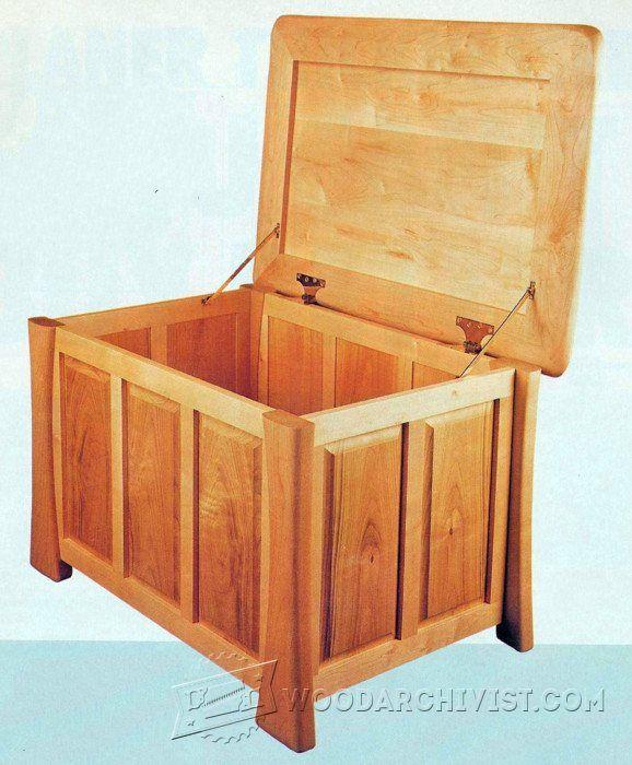 Linen Chest Plans   Furniture Plans And Projects   WoodArchivist.com