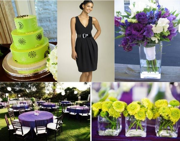 Little Black Dress Day 2 Vi Purple And Green Wedding Purple Wedding Centerpieces Green Wedding Centerpieces