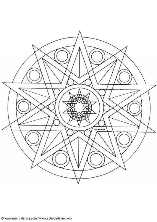 star mandala coloring pages